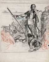 Study for Landing Men from a Naval...