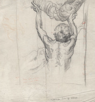 Man with Shell, Study for Selfridge