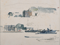 Study of submarines at Tobermory on...