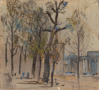 Study of Apsley gate from Hyde Park