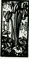 Ex libris design for a book plate - HN