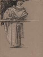Courtier, study for Panel 2, Skinners