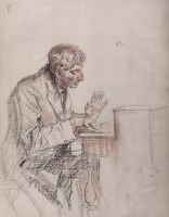 Man Playing Harmonium (study for M1109)