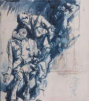 Two Wounded Soldiers (study for M1403)
