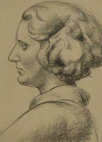 Woman's Head in Profile