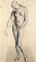 Eve, Study for The Expulsion, 1927