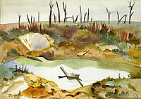 'Thiepval', Pond with shrapnel  1918