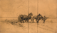 Horse Pulling Cart Uphill