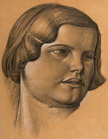 Portrait study of Edith, circa 1932