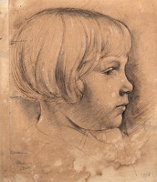 Study of Joan in profile, 1929