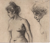 Nude study in profile