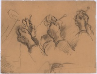 Study of hands knitting