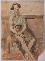 Portrait of a woman seated, 1945