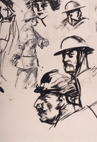 Study of WW1 soldiers, circa 1918
