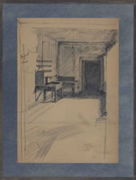 Interior, student digs, mid 1920's