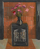 Woodburner with pink