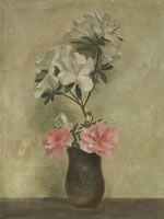 Vase of peony and rhododendron, c. 1929
