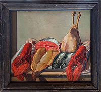 Still life with lobsters and game, 1926