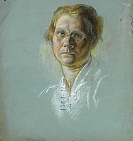 Portrait of a woman with glasses