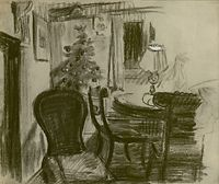 Sitting room with Christmas Tree at...